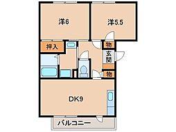 和歌山県海南市名高の賃貸マンションの間取り