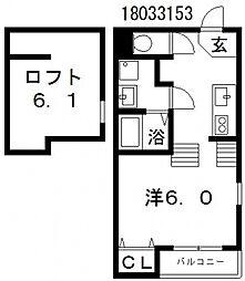 トロワスール[2階]の間取り