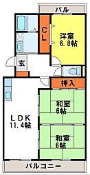 グリーンヒルズ桜台I・II[2-203号室]の間取り