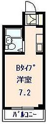 岡山県岡山市北区幸町の賃貸マンションの間取り
