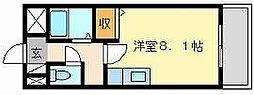 岡山県岡山市中区小橋町2丁目の賃貸マンションの間取り
