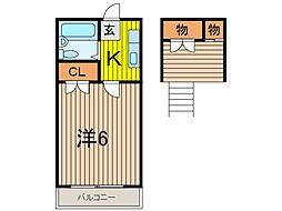 沖田コーポ戸田[2階]の間取り