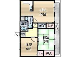 フィールドヴィレッジ2 A棟[1階]の間取り