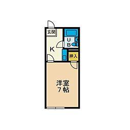 エスポアールハウスB[2階]の間取り