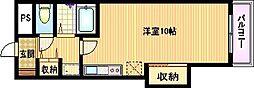 大阪府大阪市都島区中野町4丁目の賃貸マンションの間取り