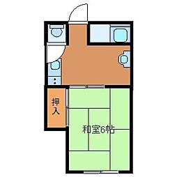 橋本コーポ[2階]の間取り