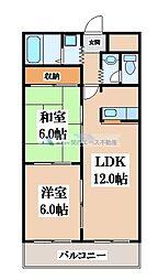 スカイガーデン東大阪[1階]の間取り
