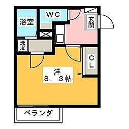 リブレア白竜B棟[1階]の間取り