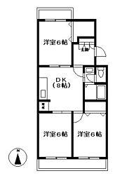 東京都町田市南成瀬2丁目の賃貸マンションの間取り