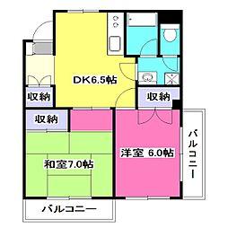 コスモハイツセブン[5階]の間取り