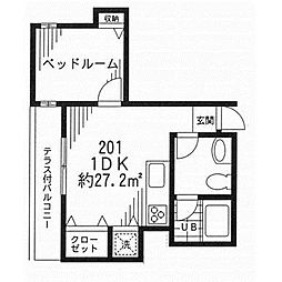 東京都江戸川区本一色1丁目の賃貸アパートの間取り