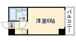 大阪府大阪市大正区三軒家東2丁目の賃貸マンションの間取り