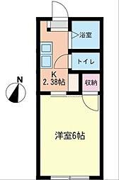 日新パレス B棟[203号室]の間取り