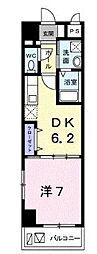 沖縄都市モノレール 儀保駅 6.4kmの賃貸マンション 4階1DKの間取り