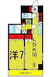 フュージョナル浅草DUE[202号室]の間取り
