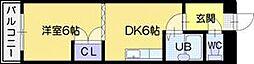 オクタワーズ野幌イーストタワー[4階]の間取り