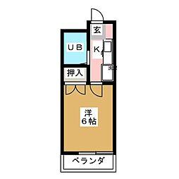 エスポワール栄[1階]の間取り