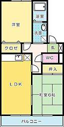 ディアコート西田[2階]の間取り