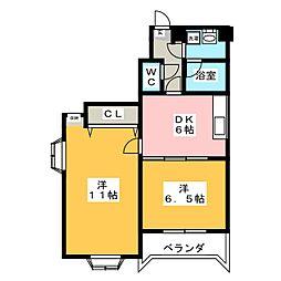 ラフィネ小松島[2階]の間取り