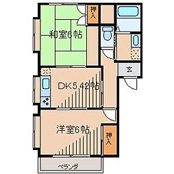 NKハイツ3[2階]の間取り