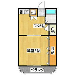 シャトー藤澤[311号室]の間取り