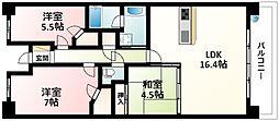 JR東海道・山陽本線 新大阪駅 徒歩10分の賃貸マンション 8階3LDKの間取り