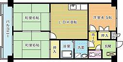 第11岡部ビル[603号室]の間取り
