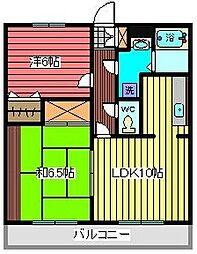 埼玉県川口市青木4丁目の賃貸マンションの間取り