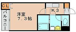 リブレア吉塚南 B[2階]の間取り
