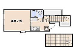ENISHU海老園 1階ワンルームの間取り