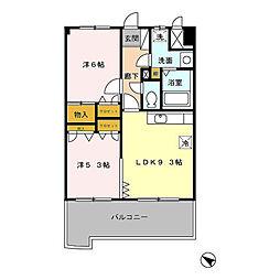フォルスト平尾[5階]の間取り