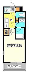 東京都小金井市本町4丁目の賃貸マンションの間取り