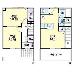 mi・casita(ミ・カシータ) 2階2LDKの間取り
