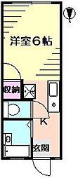 ハイムキリハタ[103号室]の間取り