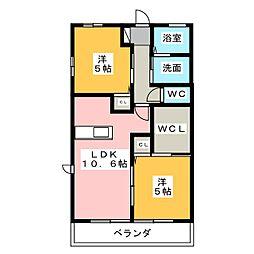 フリースタイルI・II[1階]の間取り