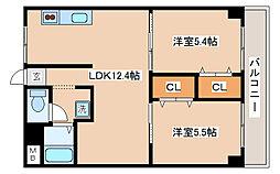 兵庫県神戸市兵庫区永沢町3丁目の賃貸マンションの間取り