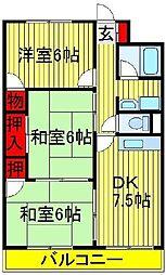 第2パークマンション西原[202号室]の間取り