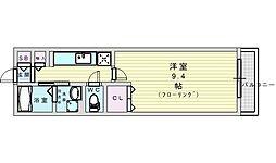 Osaka Metro御堂筋線 江坂駅 徒歩15分の賃貸アパート 1階1Kの間取り