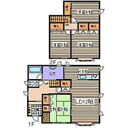 [一戸建] 北海道北見市緑ケ丘5丁目 の賃貸【/】の間取り