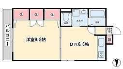 コスモス小倉駅前II[3階]の間取り