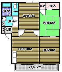 シャルム千代田[2階]の間取り