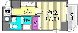 クレアール神戸[8階]の間取り