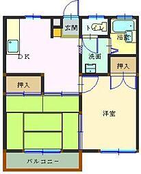 埼玉県本庄市東台2丁目の賃貸アパートの間取り