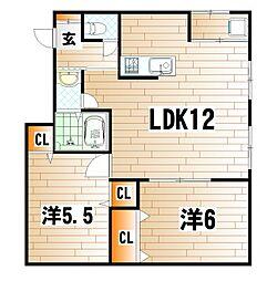 本庄ビル[3階]の間取り