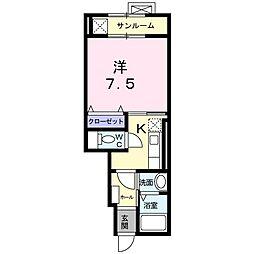 マ・メゾン・ソレイユII[0102号室]の間取り