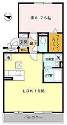 フェリーチェ石田[2階]の間取り