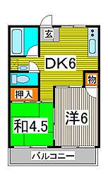 岡田ビル[4階]の間取り