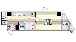 プレサンス神戸駅前グランツ[909号室]の間取り