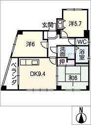 シェリエ本山[3階]の間取り