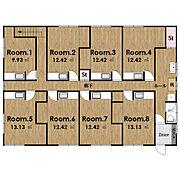 現在の空室はRoom4のみになります。木造賃貸アパートが小さいオフィスとして蘇り、今に生きる築古木造空間。